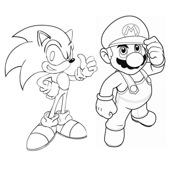 20 Silver Sonic And Mario Coloring Pages Ideas And Designs