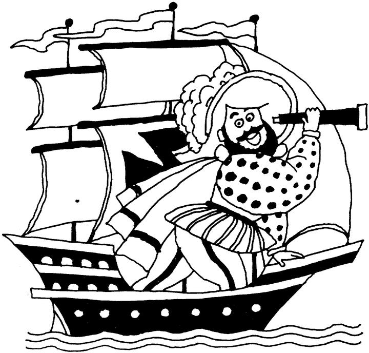 Christopher Columbus Boats Coloring Pages Coloring Pages