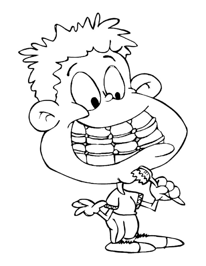 Brushing Teeth Coloring Pages Coloring Pages