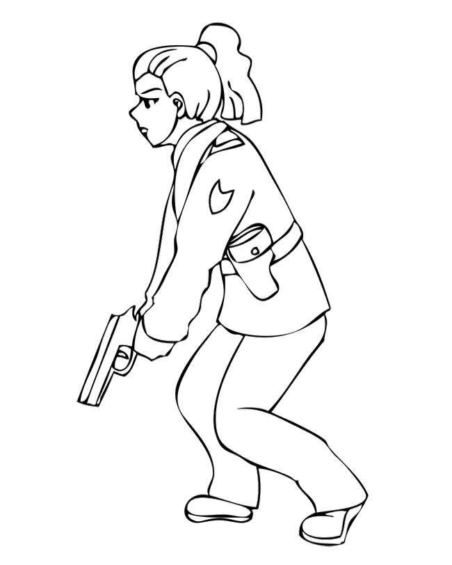 Free police police badge coloring pages