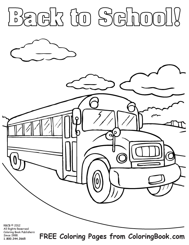 School Bus Safety Coloring Pages Sketch Coloring Page