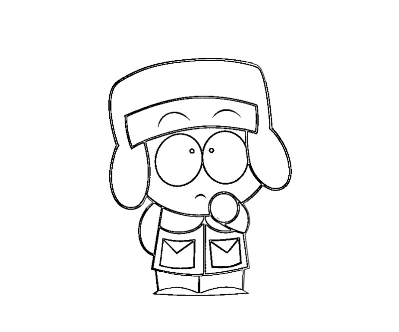 South Park Character Cartman Coloring Page