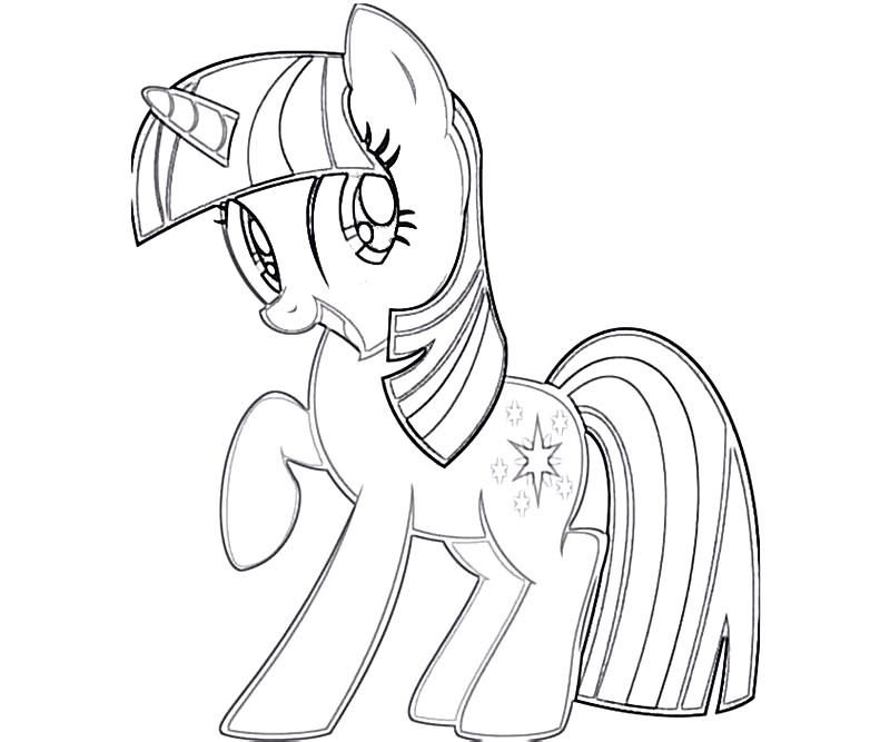 My Little Pony Friendship Is Magic Coloring Pages Twilight