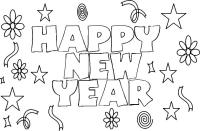 Happy New Year 2017 Coloring Pages - Coloring Home