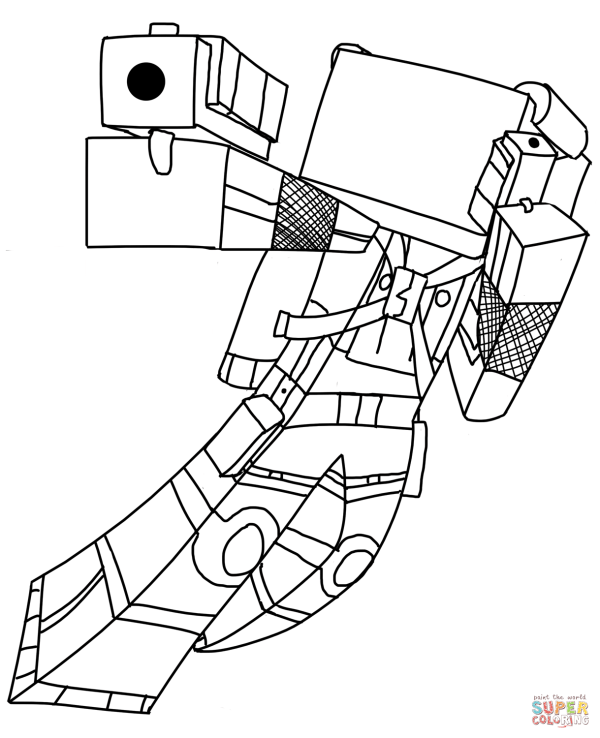 Minecraft Coloring Pages Cat - Home