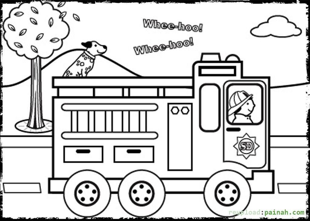 Preschool Pedestrian Safety Coloring Pages