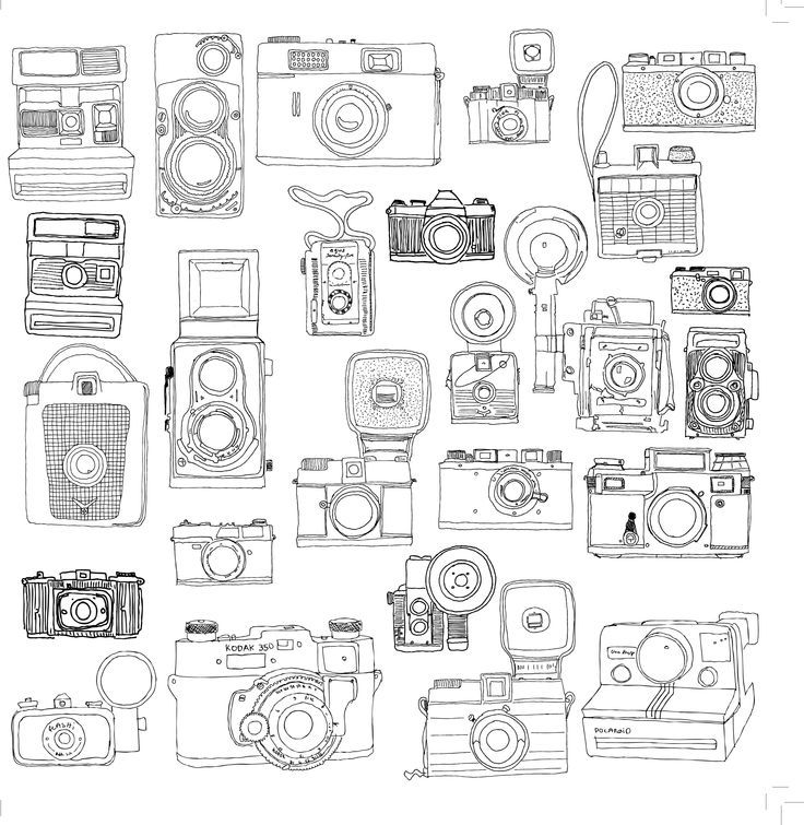 Polaroid Camera Coloring Pages Coloring Coloring Pages