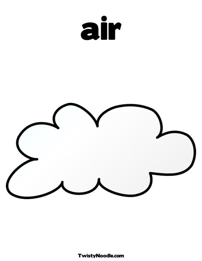 Blowing Clouds Pages Coloring Pages