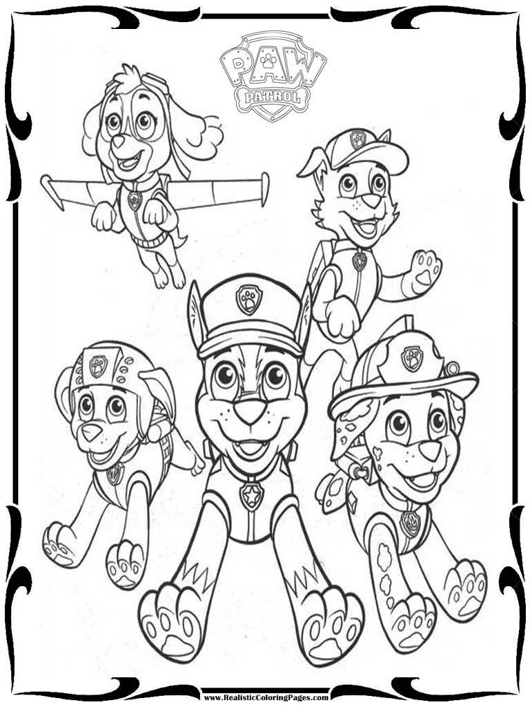 Beautiful Paw Patrol Mighty Pups Drawing And Coloring For ...