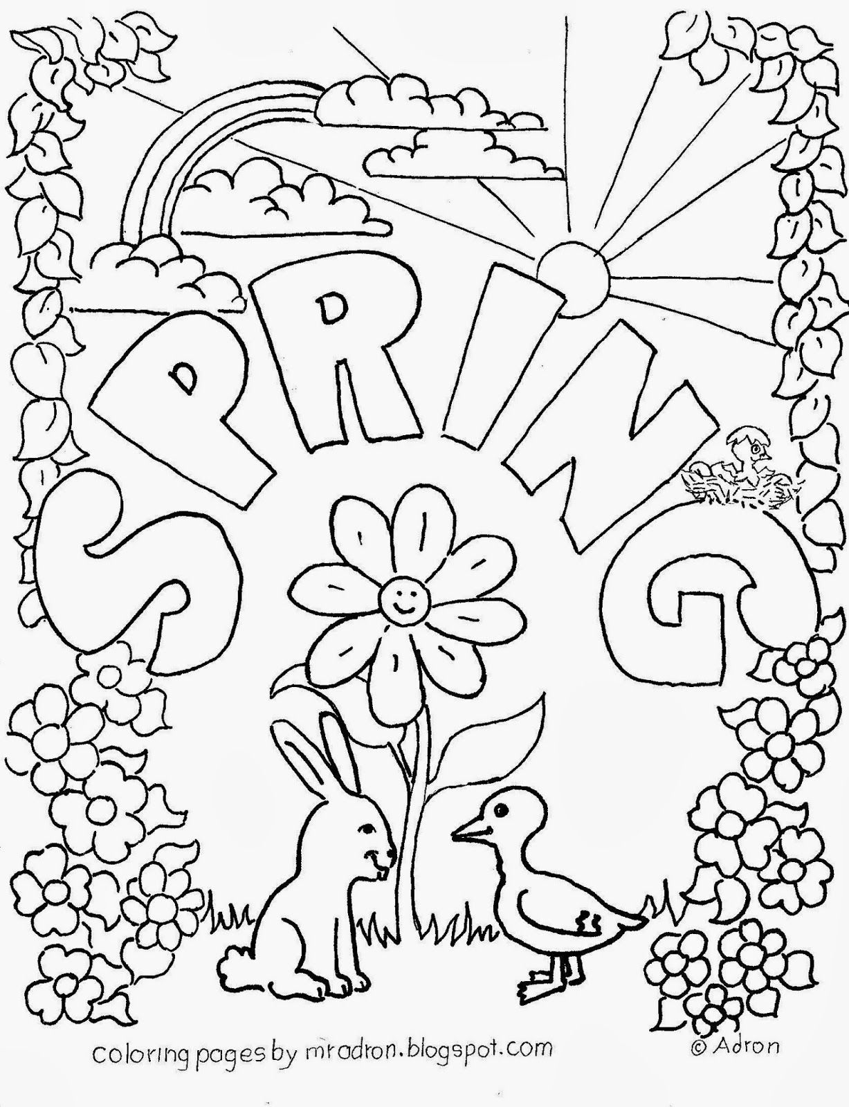 Spring Coloring Pages Free Printables