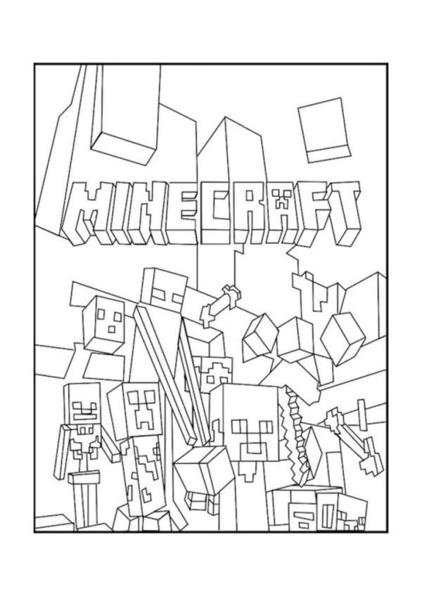 Minecraft Ender Dragon Kleurplaten.20 Minecraft Coloring Pages Of Cool Designed Ideas And Designs