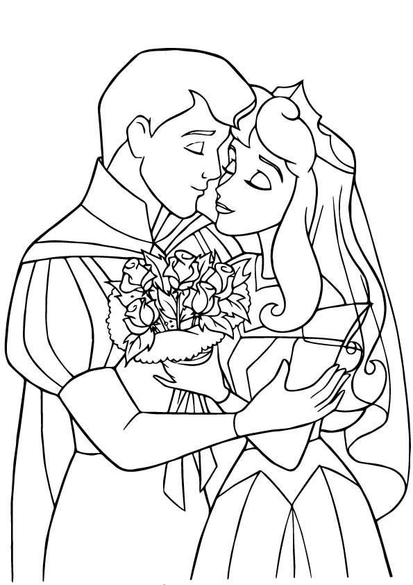 Prince Phillip Coloring page | Cinderella coloring pages, Sleeping ... | 842x595