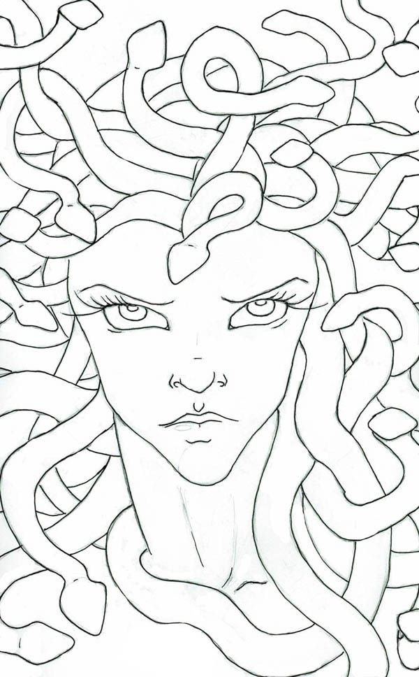 Medusa Coloring Sheet Coloring Pages