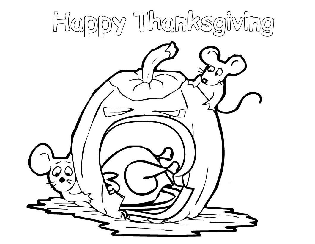 Happy Thanksgiving Coloring Pages Free