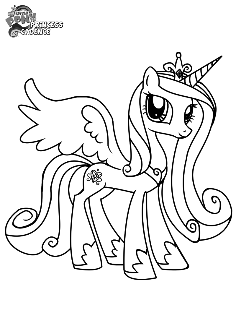 Little Pony Cadence Coloring Page