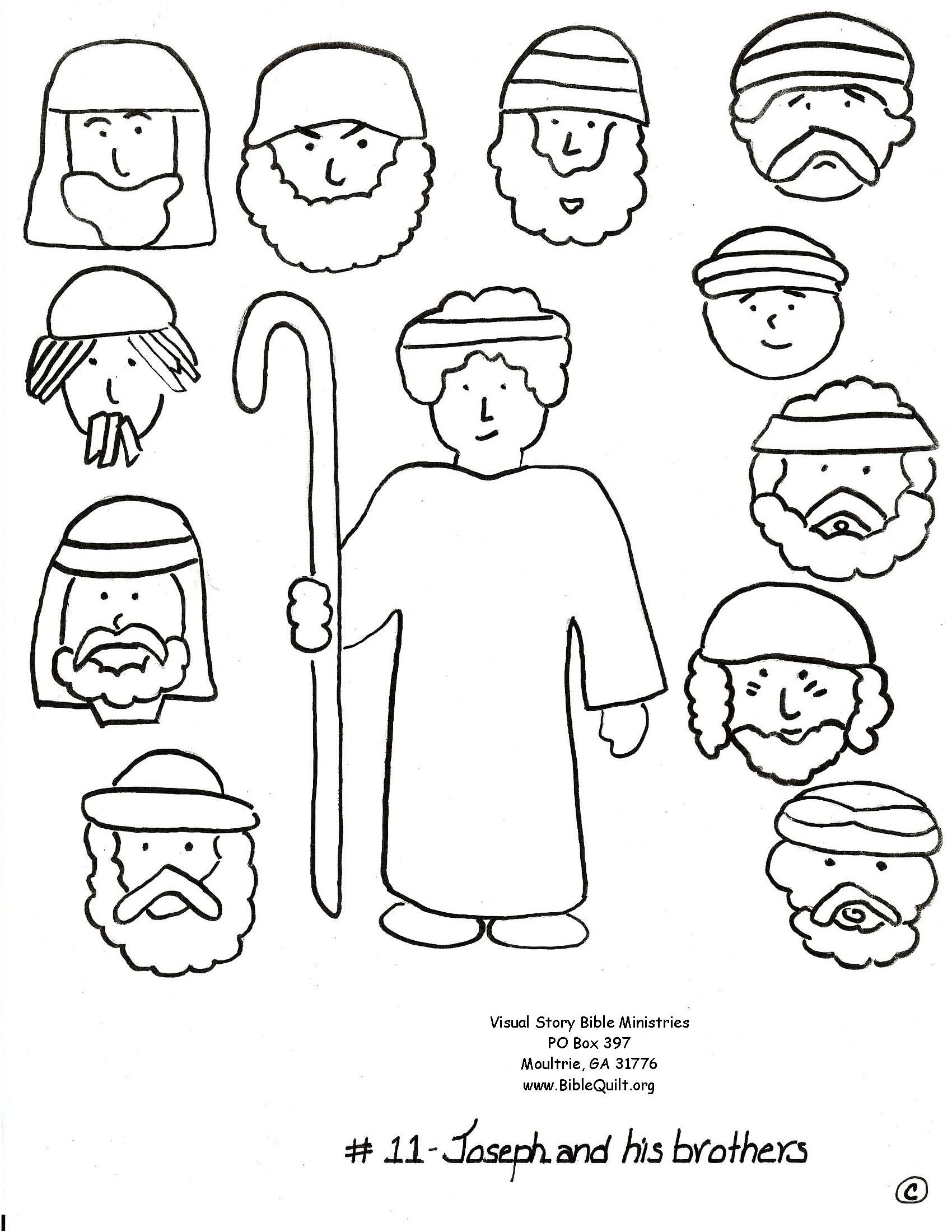Joseph And His Brothers Coloring Page Sketch Coloring Page