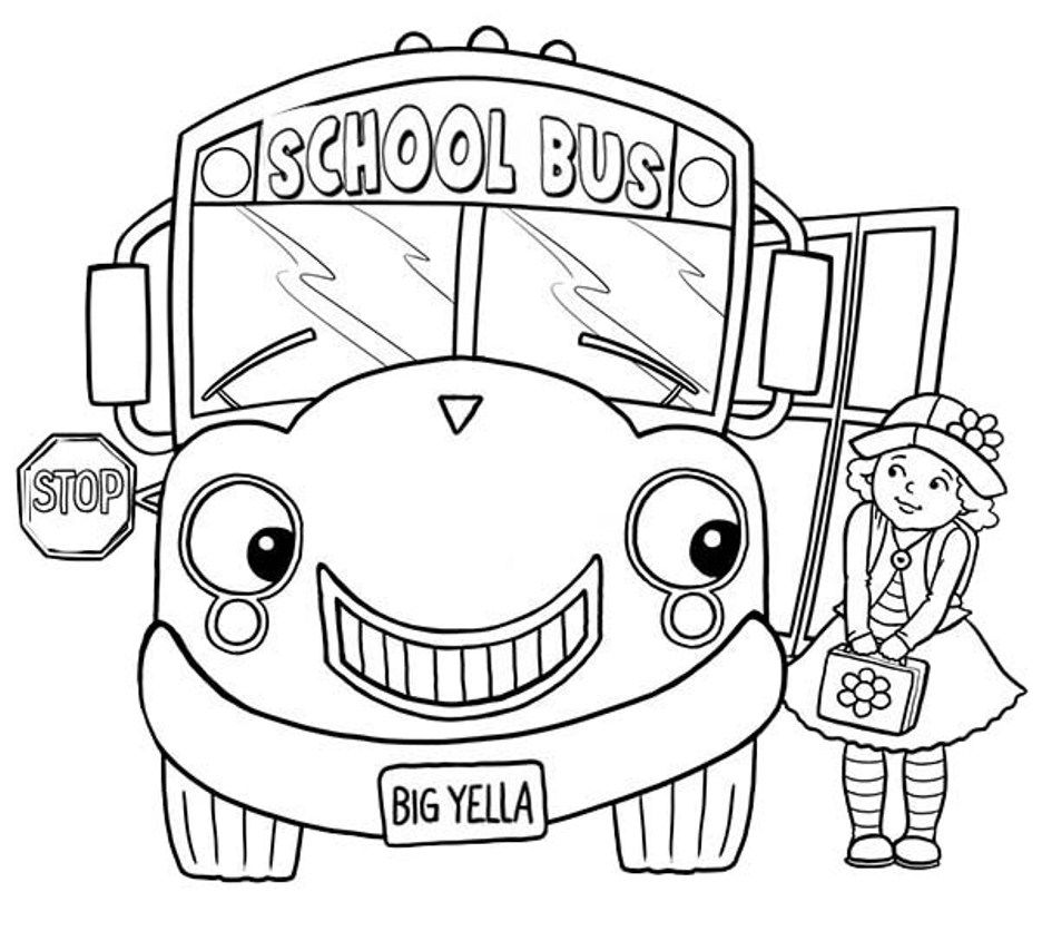 School Bus To Color Coloring Home