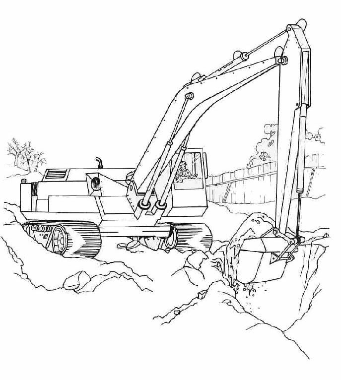 Free Backhoe Coloring Pages