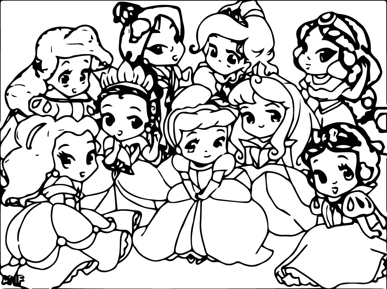 Disney Baby Princess Coloring Pages
