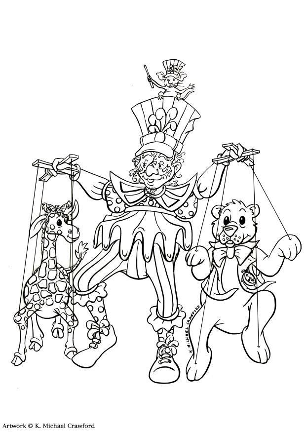 Puppet Master Five Nights At Freddys Coloring Pages
