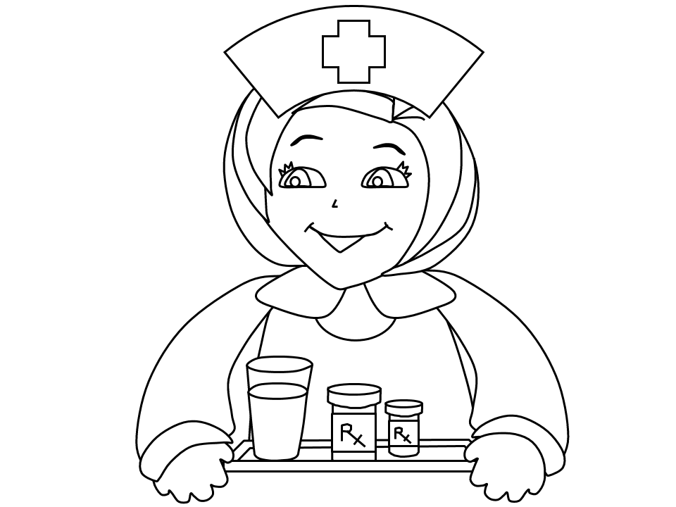 Letter N Represent Nurse Coloring Page Here Home Nurse