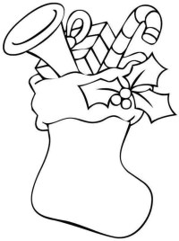 Full Stockings - Free Colouring Pages