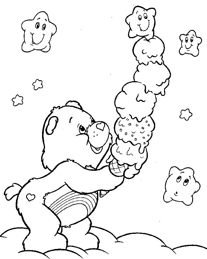 Care Bear Coloring Pages On Cousins Penguin Sketch