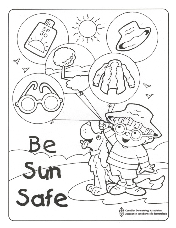 Sun Safety Coloring Sheets Coloring Pages