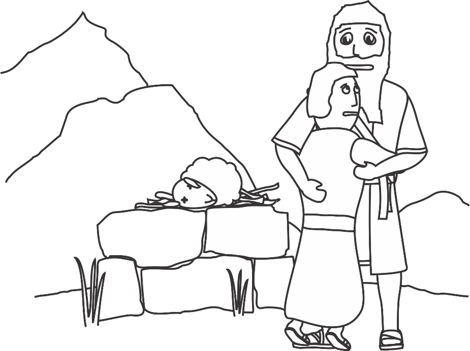 Free coloring pages of abraham and sarah with