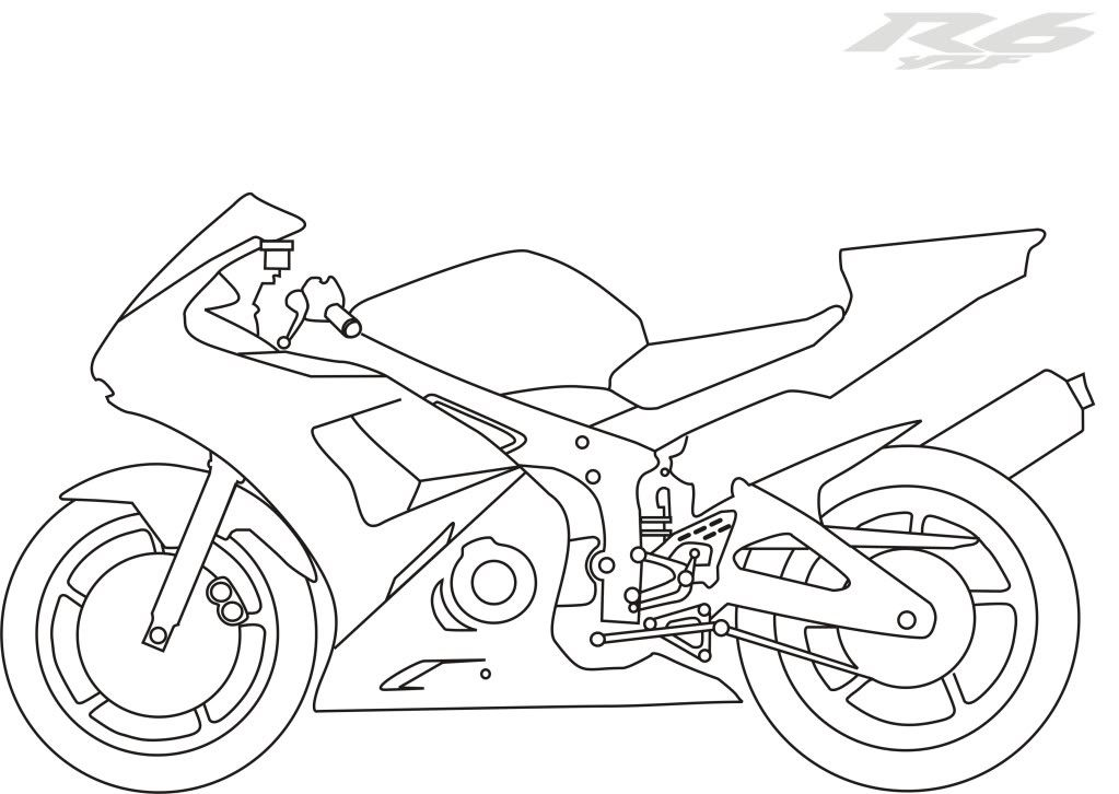 yamaha motorcycle coloring pages pictures of motorcycles