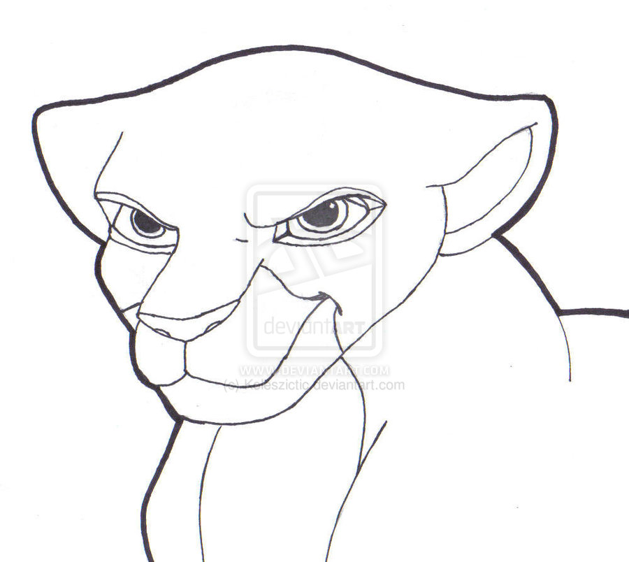 The Lion King Kiara Pencil Coloring Pages