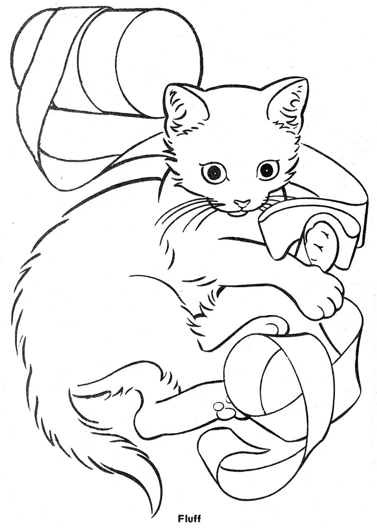 Three Little Kittens Sheet Coloring Pages