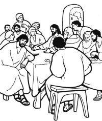 The Last Supper Coloring Page - Coloring Home