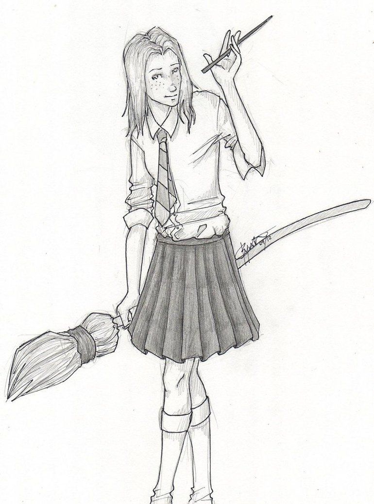 Harry Potter Ginny Coloring Page AZ Coloring Pages