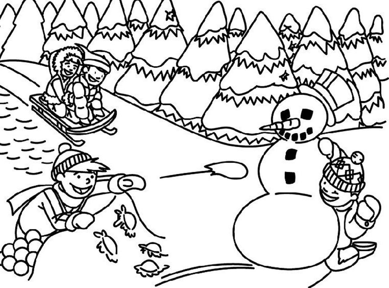 Free Printable Coloring Pages Of Winter Scenes
