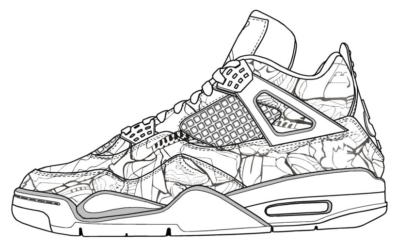 Steph Curry Shoes Coloring Pages