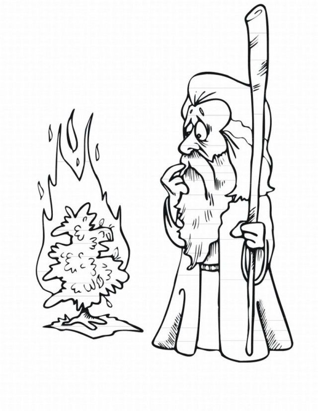 Clipart Moses And The Burning Bush Collection