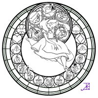 Stained Glass Window Coloring Page - Coloring Home