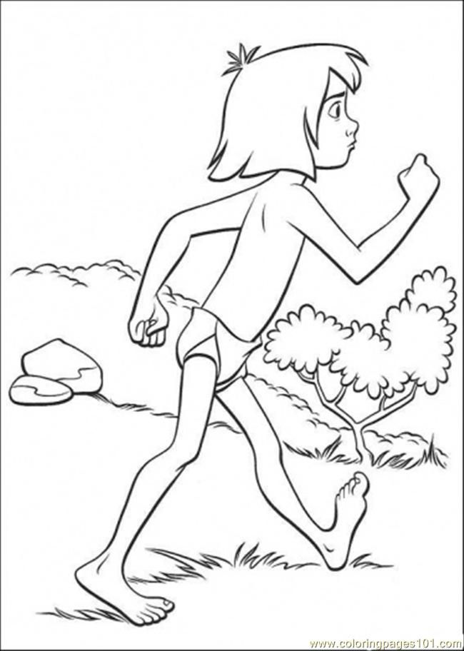 Coloring Pages Mowgli Is Walking (Cartoons > The Jungle