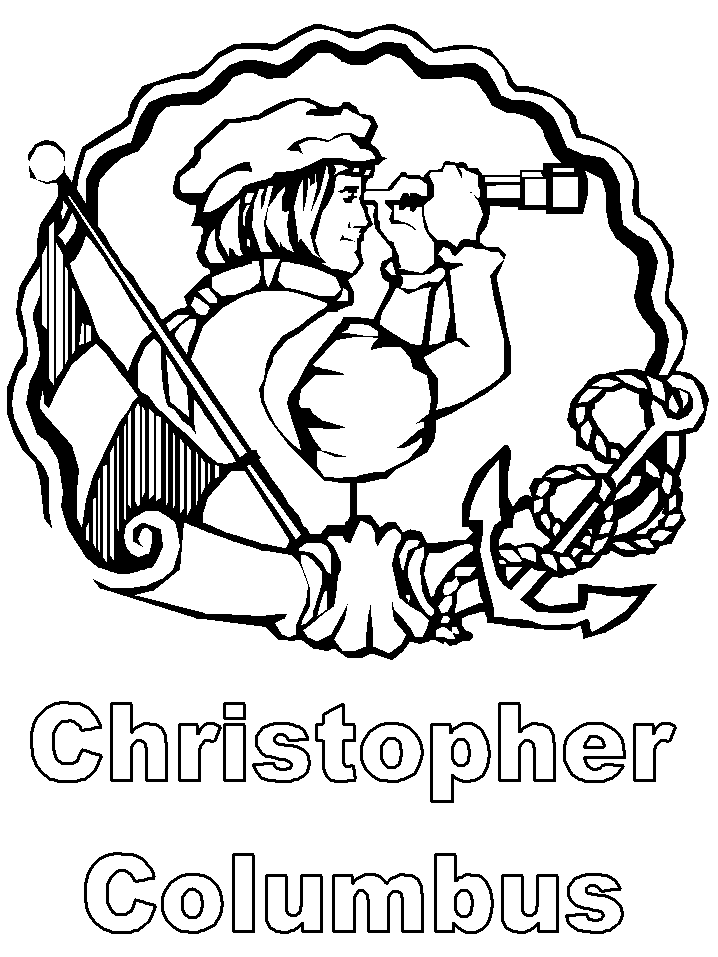 Columbus Day Coloring Pages For Kids- Printable Coloring