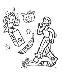 Healthy Coloring Pages - AZ Coloring Pages