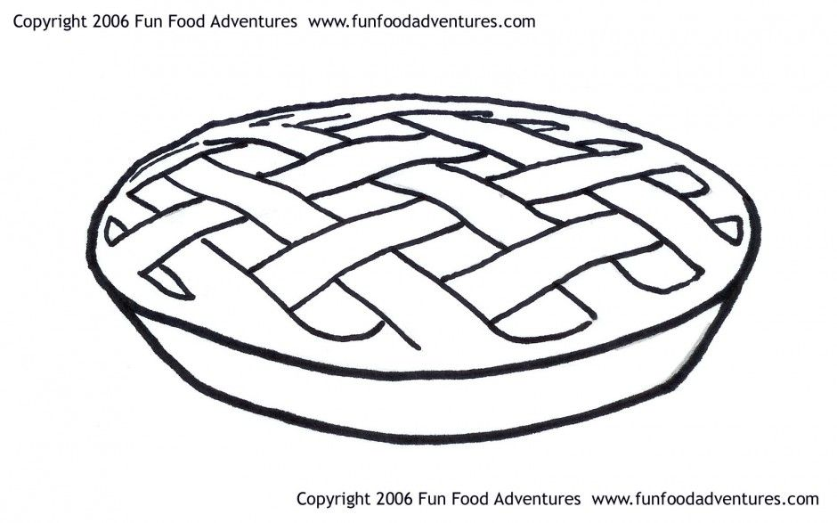 Apple Pie Clipart Black And White