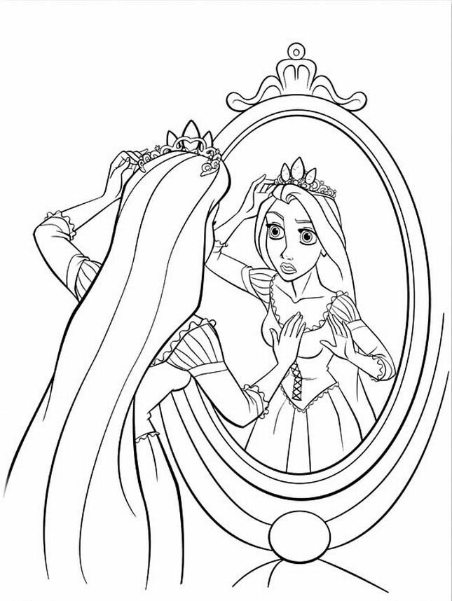 Rapunzel Coloring Pages Coloring Home