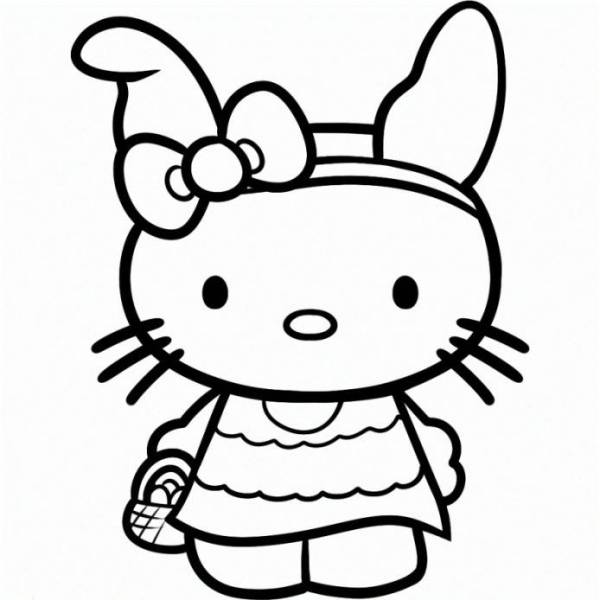 Hello Kitty Printable Face AZ Coloring Pages