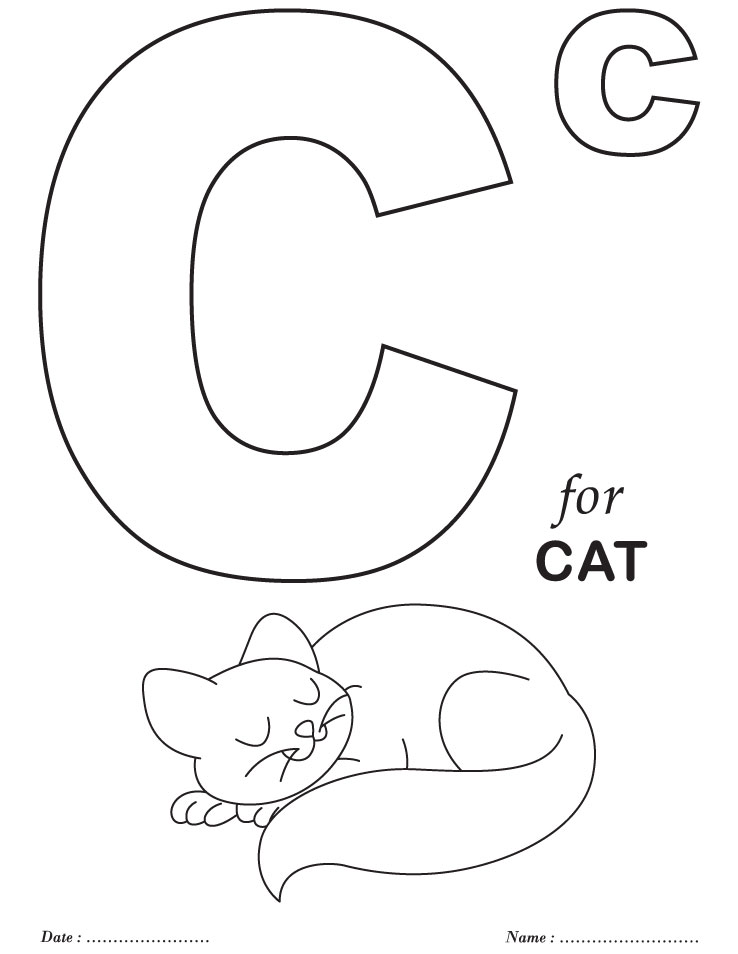 Alphabet Pages Preschool Coloring