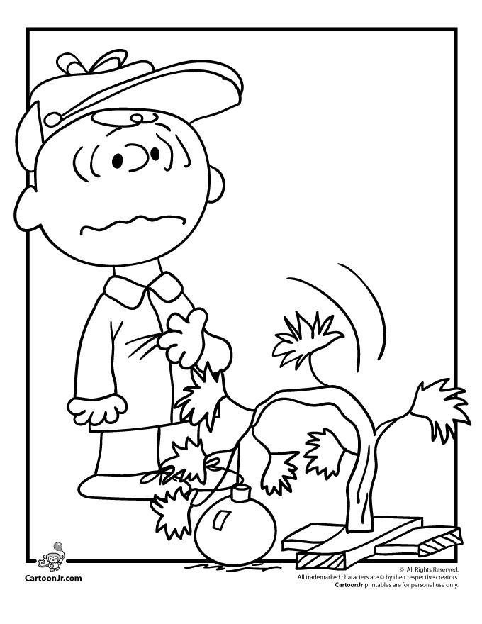 Peanuts Charlie Brown Christmas Coloring Page Peanuts