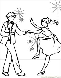 Free Dance Coloring Pages - Coloring Home