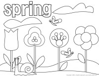 Free Coloring Sheets For Spring - AZ Coloring Pages