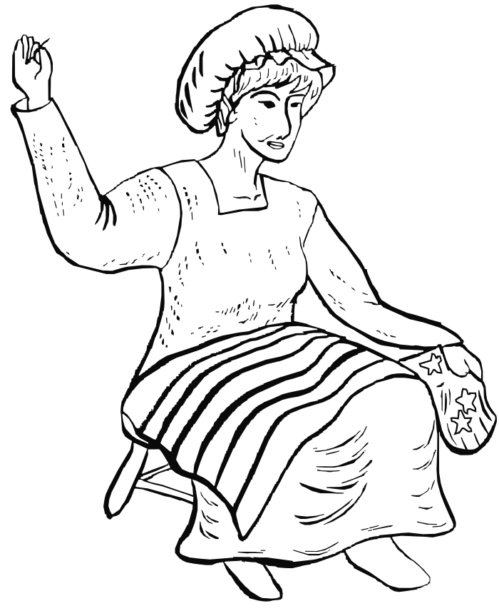 Free coloring pages of sewing