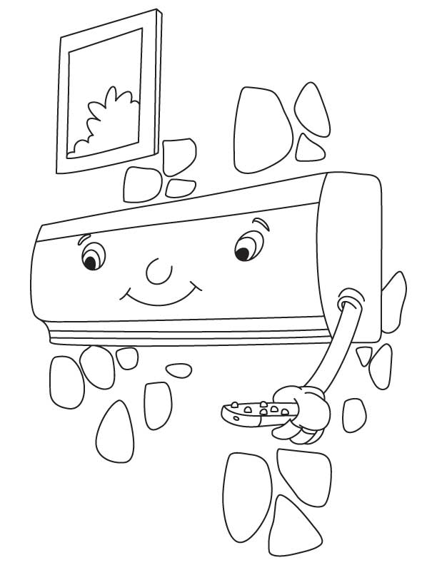 Split Air Conditioner Coloring Pages, Kids Coloring Pages
